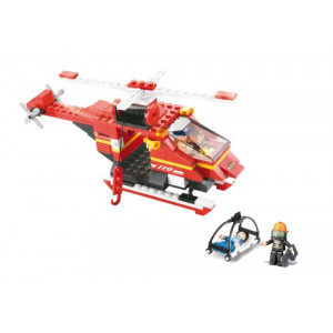 SLUBAN Τουβλακια Fire, Rescue Helicopter M38-B0218, 155τμχ M38-B0218