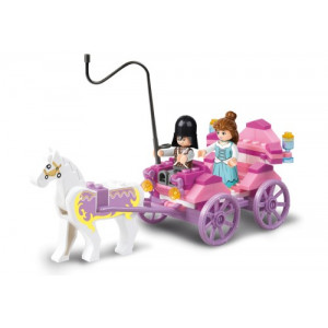 SLUBAN Τουβλακια Girls Dream, Princess Carriage M38-B0239, 99τμχ M38-B0239