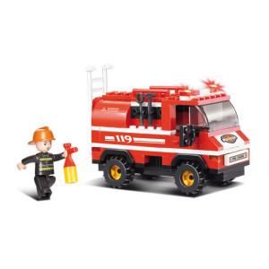 SLUBAN Τουβλακια Fire, Fire Truck M38-B0276, 133τμχ M38-B0276