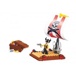 SLUBAN Τουβλακια Pirate, Pirate Raft M38-B0277, 64τμχ M38-B0277