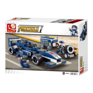SLUBAN Τουβλακια 1:32  Racing Car Blue Lightning M38-B0351, 196τμχ M38-B0351