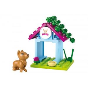 SLUBAN Τουβλακια Girls Dream, Dog House M38-B0513, 18τμχ M38-B0513