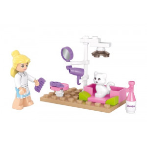 SLUBAN Τουβλακια Girls Dream, Pet Salon M38-B0515, 30τμχ M38-B0515