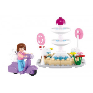 SLUBAN Τουβλακια Girls Dream, Fountain M38-B0519, 79τμχ M38-B0519