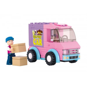 SLUBAN Τουβλακια Girls Dream, Delivery Van M38-B0520, 102τμχ M38-B0520
