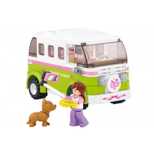 SLUBAN Τουβλακια Girls Dream, Camper M38-B0523, 158τμχ M38-B0523