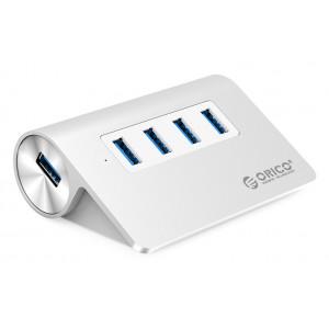 ORICO USB 3.0 Hub M3H4, 4x USB3.0 ports, 5Gbps, ασημί M3H4-V1-SV-BP