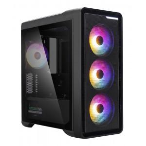 ZALMAN PC case M3 Plus RGB mid tower, 407x210x457mm, 4x RGB fan M3PLUS-RGB