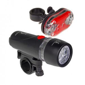 MACLEAN ENERGY Σετ φωτισμού ποδηλάτου MCE38, μαύρο MCE38
