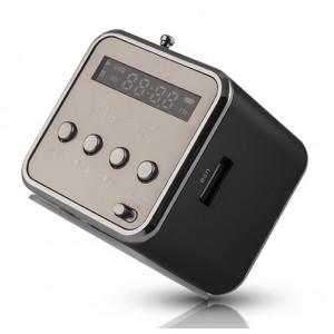 FOREVER Speaker MF-100, Portable, FM Radio, MicroSD, Color LED, Black