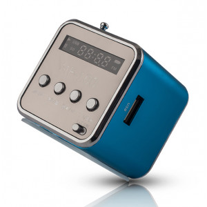 FOREVER Speaker MF-100, Portable, FM Radio, MicroSD, Color LED, Blue MF-100-BL