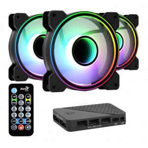AEROCOOL Kit LED ανεμιστήρων MIRAGE-12PRO, 120mm, RGB MIRAGE-12PRO