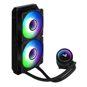 AEROCOOL liquid cooler MIRAGE-L240, 120mm, LED RGB, 2x fans MIRAGE-L240