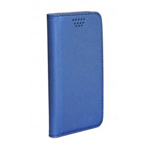 POWERTECH Θηκη Smart Book Universal για Smartphone 5.0 - 5.5, Blue MOB-0561