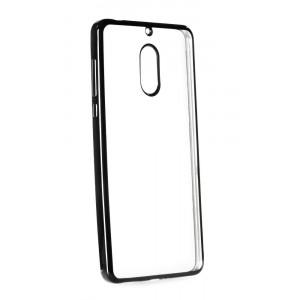 POWERTECH Θηκη Metal TPU για Nokia 6, Black MOB-0622