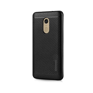 POWERTECH Θηκη Carbon Armor Hybrid για Xiaomi Redmi Note 4, Black MOB-0682