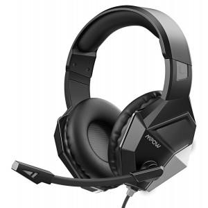 MPOW gaming headset EG10 BH414A LED, multiplatform, 3.5mm, μαύρο-μπλε MPBH414AD
