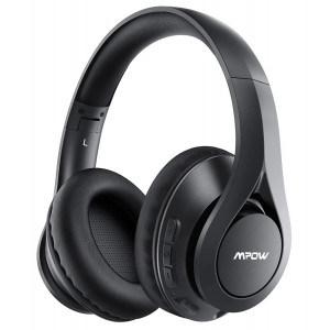 MPOW headphones 059 Pro/Lite, wireless & wired, 40mm, mic, μαύρα MPBH451AB