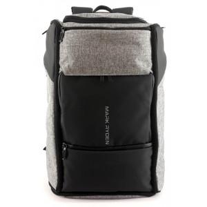 MARK RYDEN τσάντα πλάτης MR6888, με θήκη laptop 17.3, 25L, γκρι MR6888-17