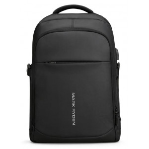 MARK RYDEN τσάντα πλάτης MR9191DY-SJ00, με θήκη laptop 15.6, μαύρη MR9191DY-SJ00