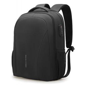 MARK RYDEN τσάντα πλάτης MR9380, θήκη laptop 15.6, λουκέτο TSA, μαύρη MR9380-00