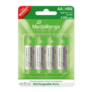 MediaRange Accu επαναφορτιζομενη AA Mignon | HR6 1.2V Pack 4 MRBAT121