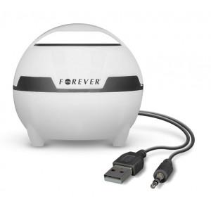 FOREVER Speaker MS-100, Portable, USB, 5W, Magic Light, White
