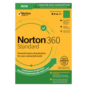 NORTON Antivirus 360 Standard ESD, 1 συσκευή, 10GB cloud, 1 έτος N360-ESD-1