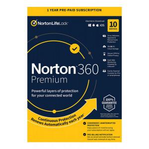 NORTON Antivirus 360 Premium ESD, 10 συσκευές, 75GB cloud, 1 έτος N360-ESD-3
