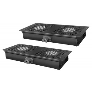 POWERTECH cooling fan για rack NETW-0009, 4x fans, 2x 29.5x13x4cm NETW-0009