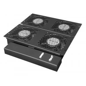 POWERTECH cooling fan με θερμοστάτη για rack NETW-0010, 29.5x31x4cm NETW-0010