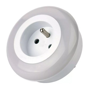 EMOS LED φωτιστικό νυκτός P3307, schuko, με αισθητήρα φωτός, λευκό P3307