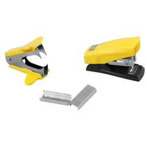 MP mini συρραπτικό/αποσυρραπτικό με ανταλλακτικά PA617, 24/6, κίτρινο PA617-AN