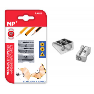 MP σετ μεταλλικές ξύστρες PA811, 25mm, ασημί PA811