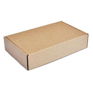 Χαρτοκιβώτιο συσκευασίας PAP-0001, τρίφυλλο, 20x13x3.5cm, καφέ, 50τμχ PAP-0001