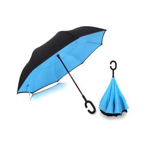 Ομπρέλα Kazbrella αντίστροφης δίπλωσης, λαβή σχήματος C, με θήκη, μπλε PB23-022-BL
