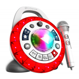 IDANCE Party Machine Karaoke PB-2, Bluetooth, με βαση, λευκο PB2WH