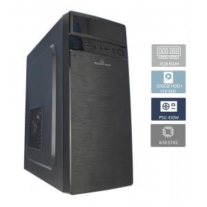 POWERTECH Έτοιμος Η/Υ, A10-5745, 4GB, 120GB SSD & 250GB HDD, DVD-RW PC2-A10-5745 (ΕΩΣ 6 ΑΤΟΚΕΣ ΔΟΣΕΙΣ)