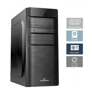 POWERTECH Έτοιμος Η/Υ, i3-7100, 4GB RAM, 1TB HDD, DVD-RW PC2-I3-7100
