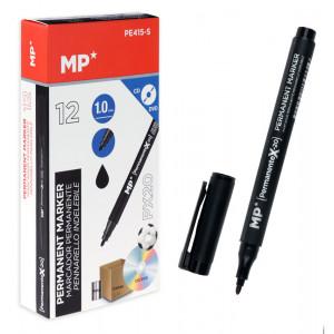 MP ανεξίτηλος μαρκαδόρος PE415-S για CD-DVD, 1mm, μαύρος 12τμχ PE415-S