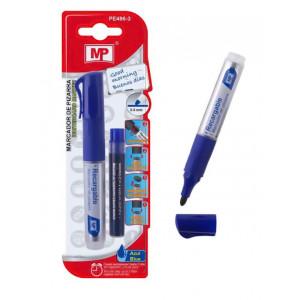 MP Μαρκαδόρος με ανταλλακτικό μελάνι PE496-3, πάχος μύτης 2-3mm, μπλε PE496-3