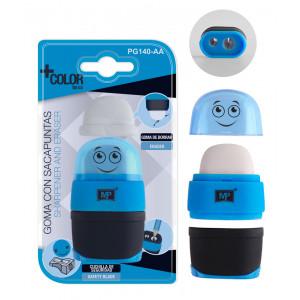 MP γόμα και ξύστρα με κάδο PG140-AG, μπλε PG140-AA