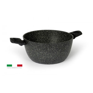 FLONAL Κατσαρόλα αντικολλητική Pietra Lavica 24cm με λαβή βακελίτη PLVC22471
