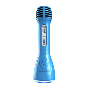 IDANCE Ασύρματο Bluetooth μικρόφωνο PM6BL, LED, επαναφορτιζόμενο, μπλε PM6BL