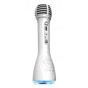 IDANCE Ασυρματο Bluetooth μικροφωνο PM-6WH, LED, επαναφορτιζομενο, λευκο PM6WH