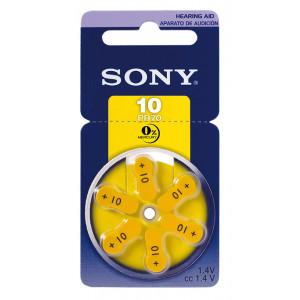 SONY μπαταρίες ακουστικών βαρηκοΐας PR10, mercury free, 1.4V, 6τμχ PR10-D6