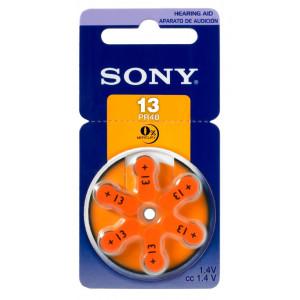 SONY μπαταρίες ακουστικών βαρηκοΐας PR13, mercury free, 1.4V, 6τμχ PR13-D6