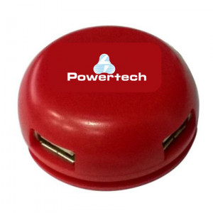 POWERTECH USB 2.0V Hub, 4 Port, Red PT-167