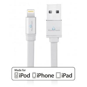 POWERTECH Καλωδιο Τροφοδοσιας Lightning to USB, 1m, Silver PT-263