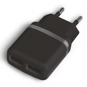 POWERTECH Φορτιστής Τοίχου PT-416, 2x USB, 2.1A, Black